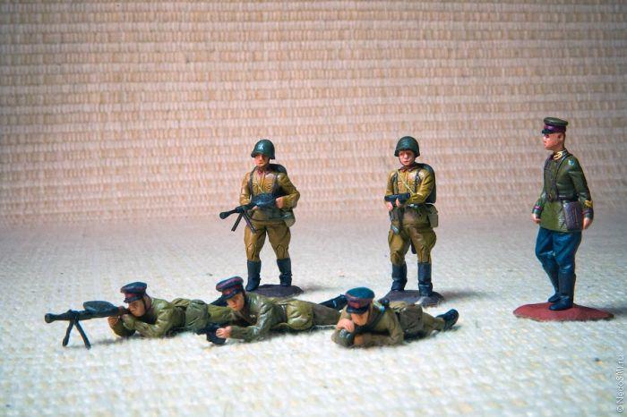 Как сделать солдатов из пластилина фото
