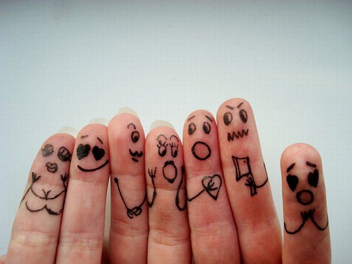 Классный креатив с пальцами (76 фото)