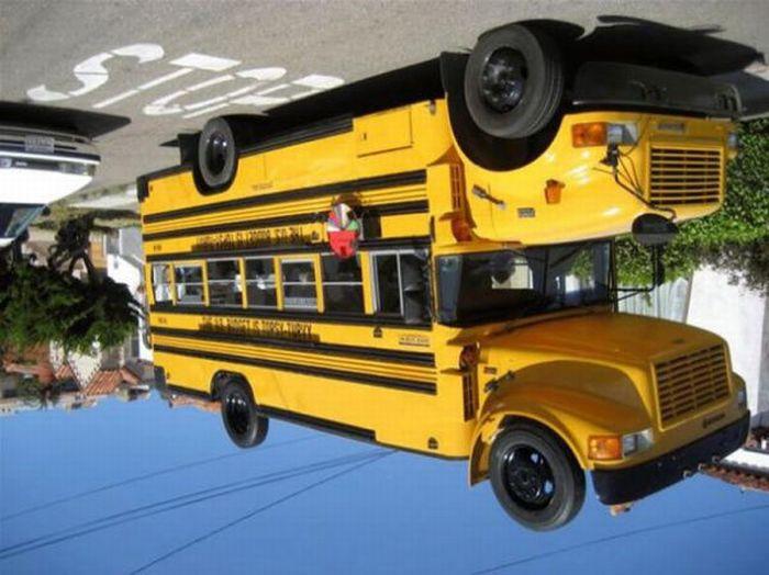 Смешной школьный автобус (7 фото)