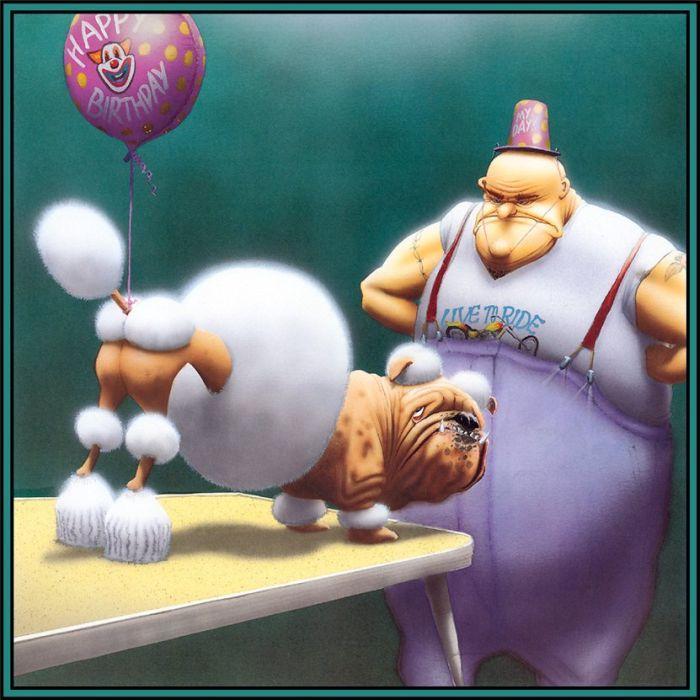 Смешные рисунки с собаками (10 фото)