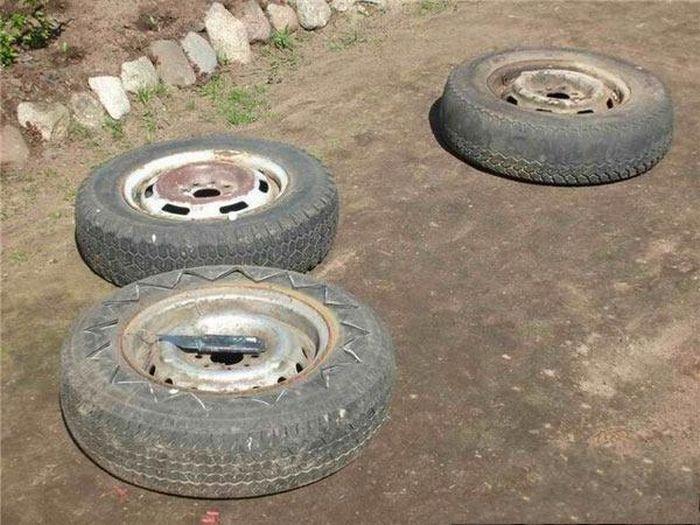 Вторая жизнь для автомобильных шин (15 фото)