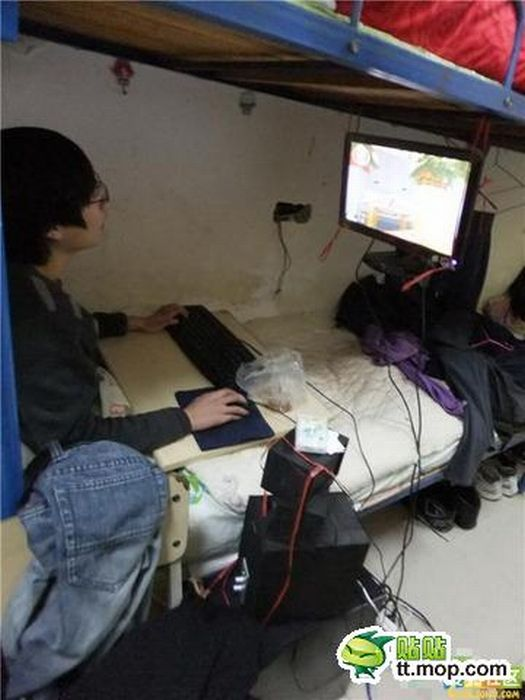 Рабочее место китайского студента (8 фото)
