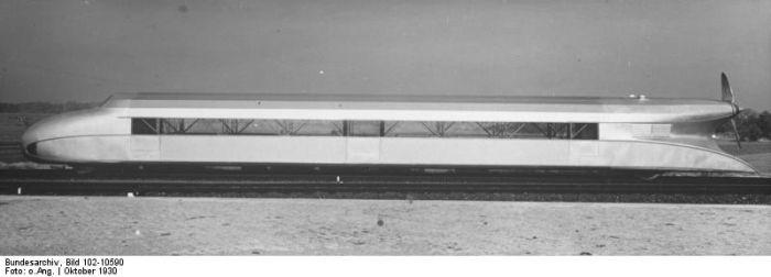 Рельсовый дирижабль (Schienenzeppelin) (7 фото)