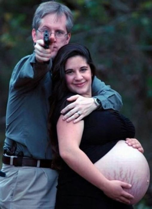 Самые странные фотографии беременных (43 фото)