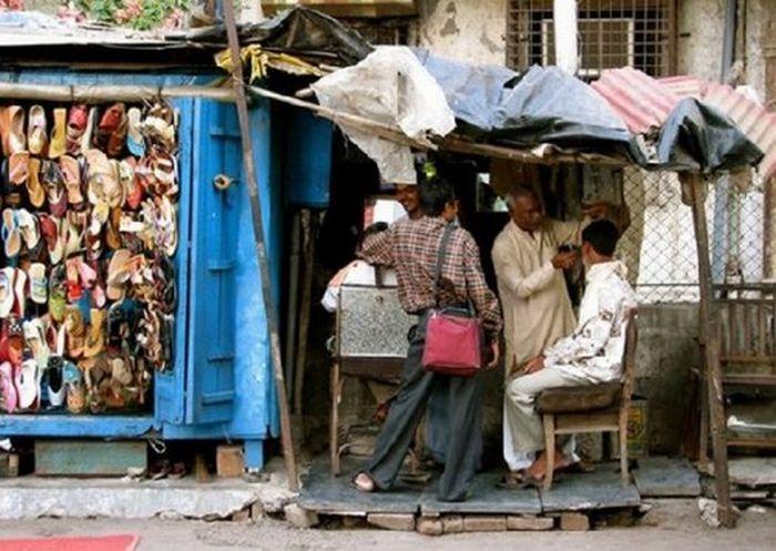 Уличная парикмахерская для мужчин (9 фото)