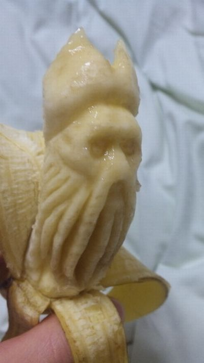 Креативные работы, сделанные и бананов (9 фото)