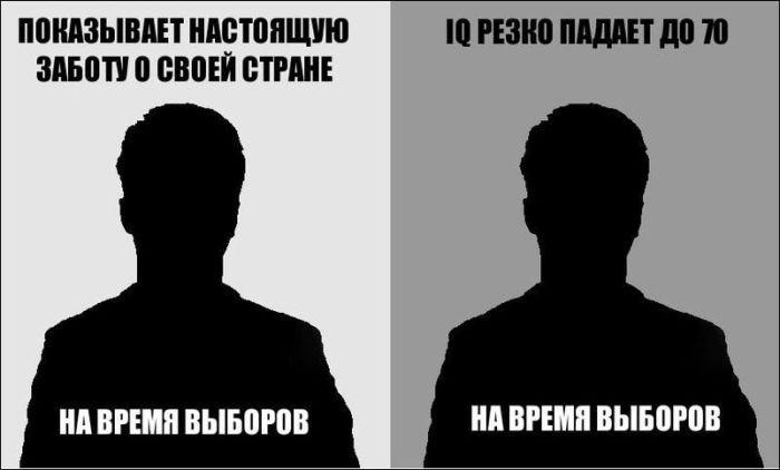 Тип избирателей и кандидата (4 картинки)