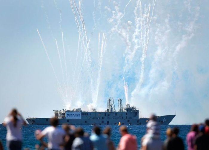 Затопление фрегата «Аделаида» (5 фото + видео)
