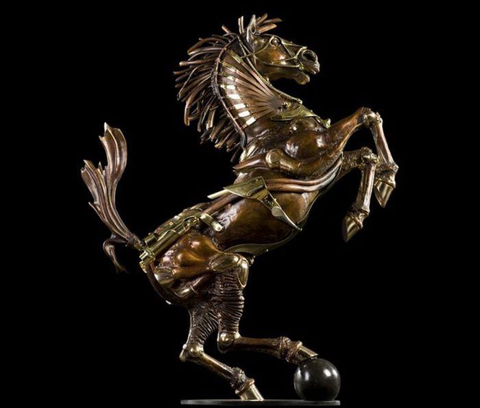 Современная скульптура стиле симпанк