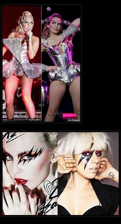 Леди Гага копирует звезд (15 фото)