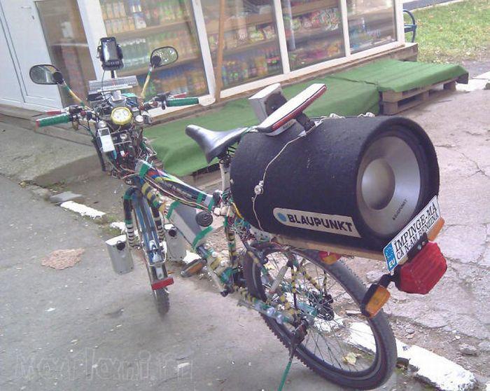 Как сделать колонку на велосипеде