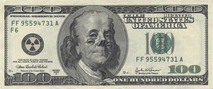 Рисунки на деньгах (34 фото)