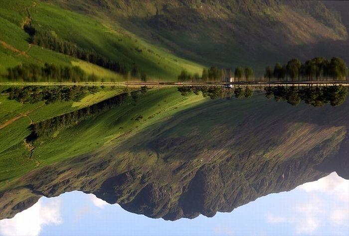 Невероятные отражения в воде (60 фото)