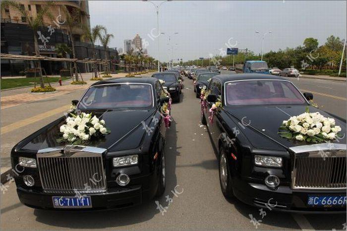 Свадебный кортеж (9 фото)
