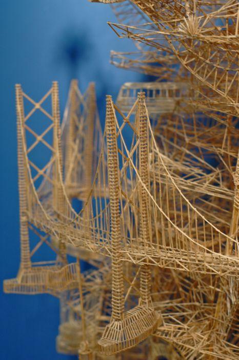 Удивительная скульптура из 100 000 зубочисток (25 фото + видео)
