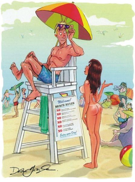 Забавные рисунки из Playboy (27 фото)