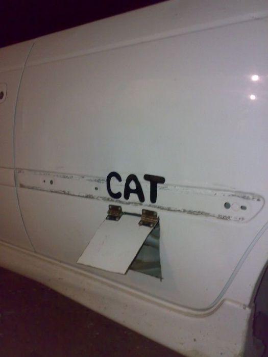 Эксклюзивная дверь для кота (4 фото)