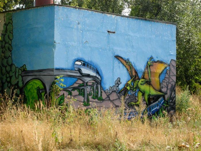 Настенная живопись в Тушино (75 фото)