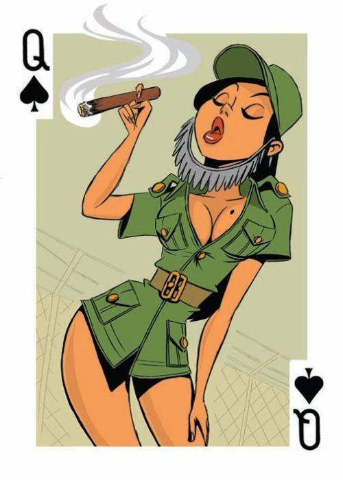 Игральные карты с девушками из разных стран (10 фото)