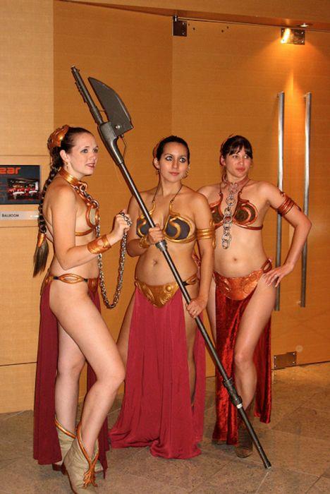 Симпатичные девушки в костюмах принцессы Леи (31 фото)