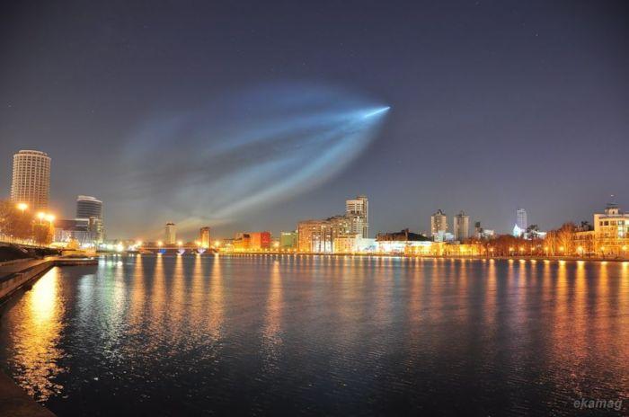 """Пуск ракеты """"Союз"""" (18 фото)"""