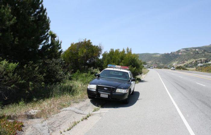 Полицейский на посту (8 фото)