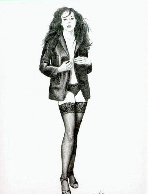 рисунки фото девушек:
