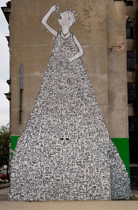 Уличное искусство от BLU (30 фото)