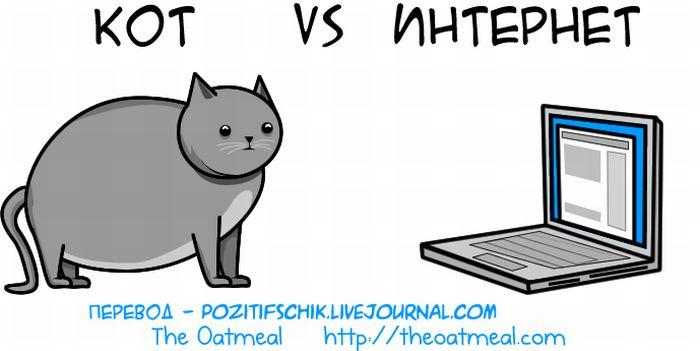 Кот vs. Интернет (21 картинка)