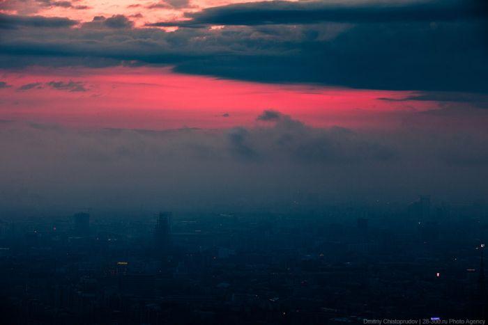 Красивый рассвет над Москвой (55 фото)