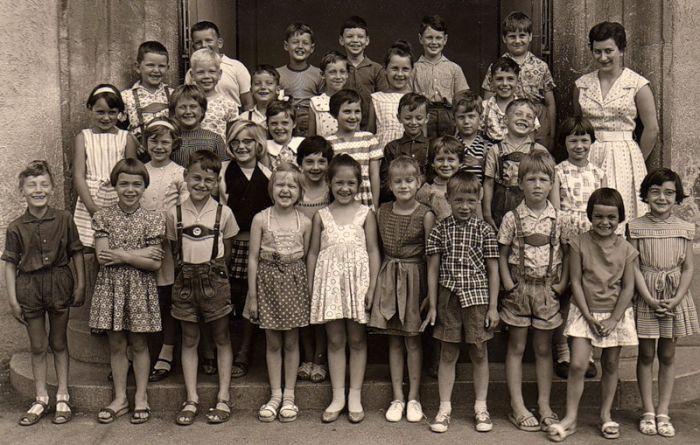 Французские школьники тогда и сейчас (7 фото)
