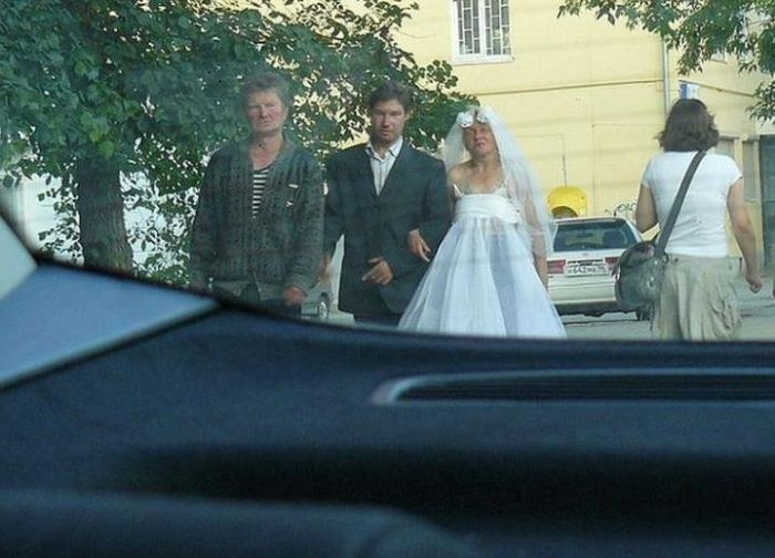 Странная свадьба (5 фото)