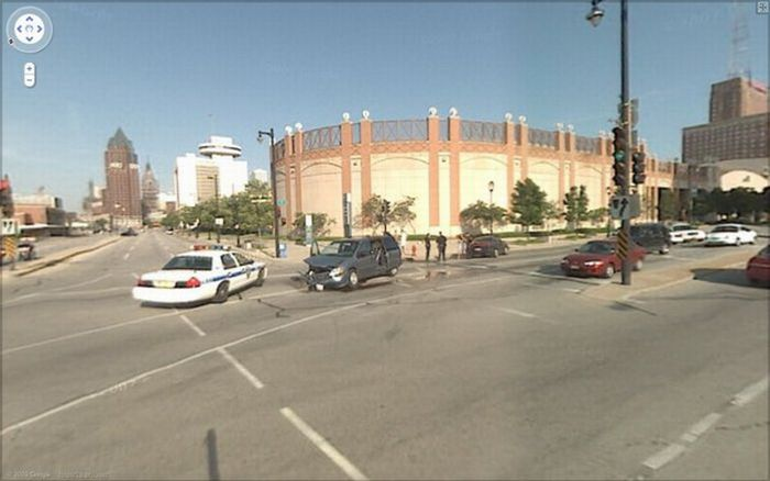 Аварии на Google Street View (12 фото)