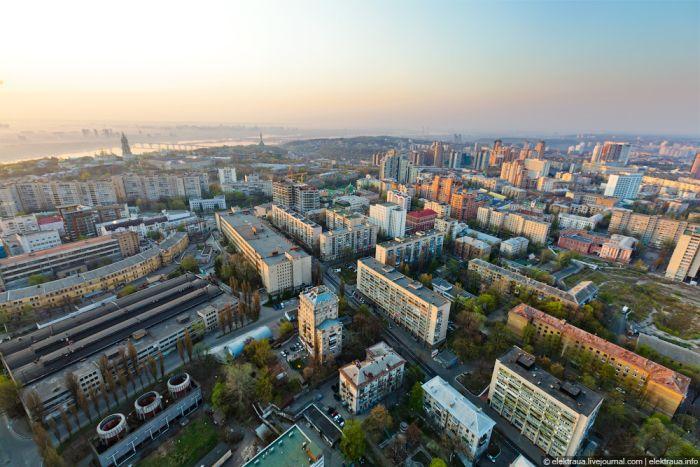 Киев с высоты птичьего полета (27 фото)