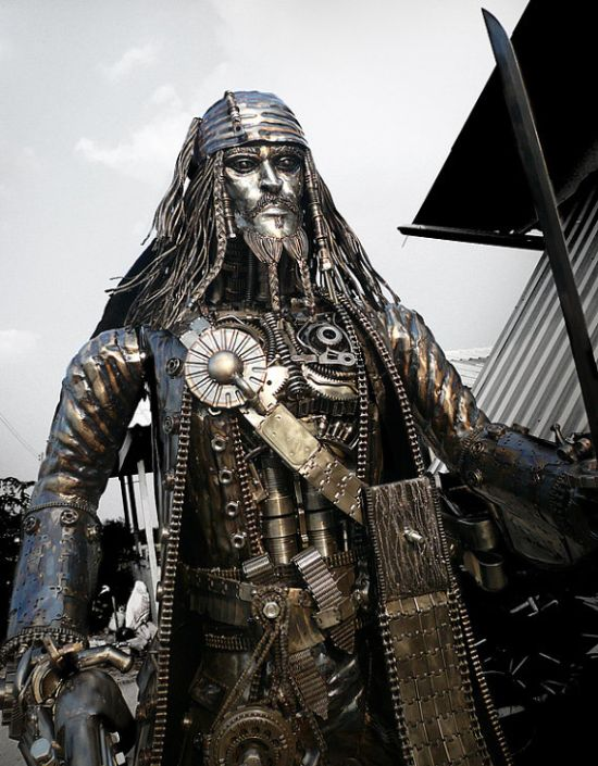 Скульптура Джека Воробья (5 фото)