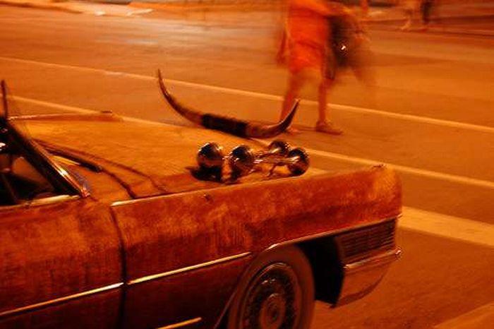 Автомобили с рогами (23 фото)
