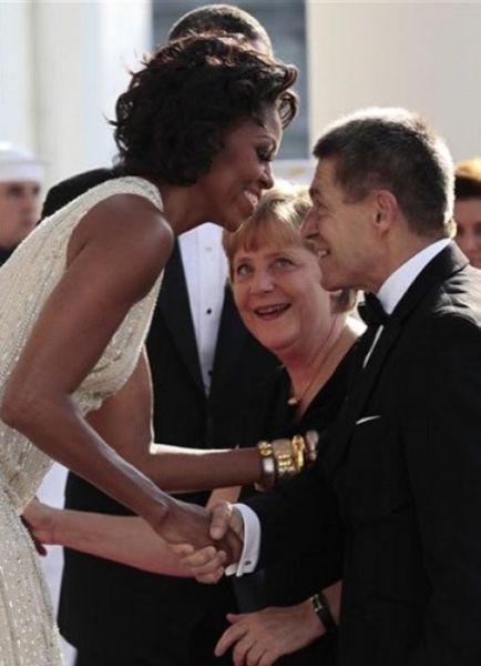 Ангеле Меркель очень понравилась Мишель Обама (7 фото)