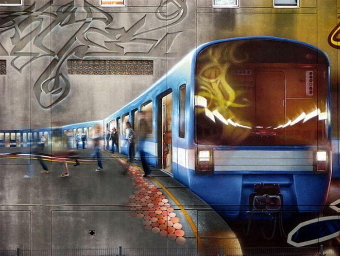 Красивейшие граффити (20 фото)