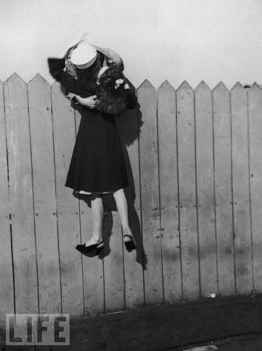 Странные места для поцелуев (14 фото)