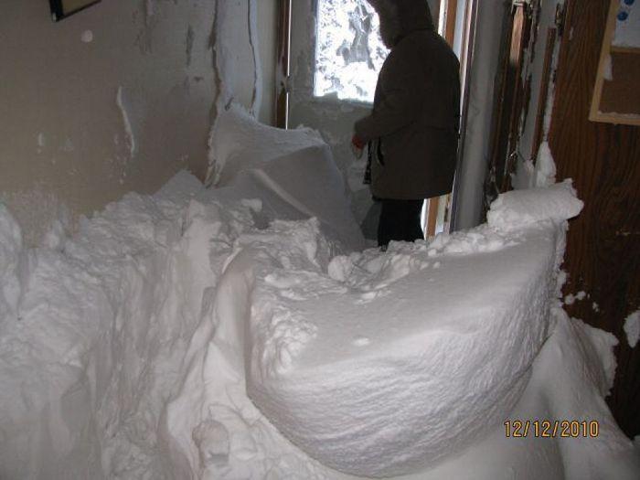 Метель ворвалась в дом (4 фото)