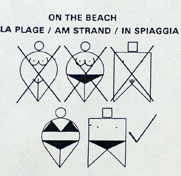 Самые странные пляжные знаки (10 фото)
