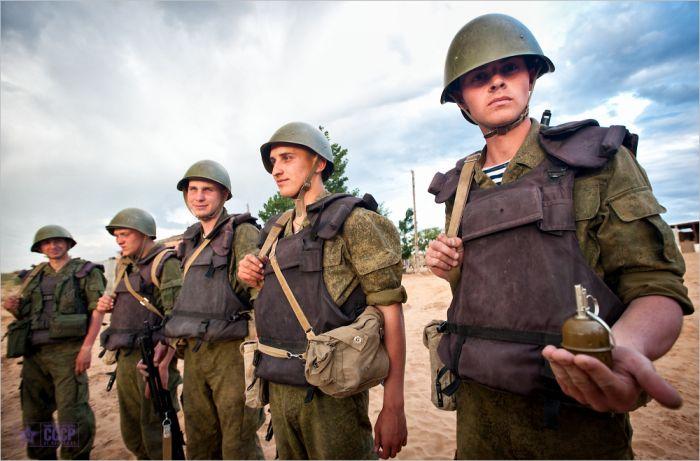 Учения морпехов Каспийской военной флотилии (98 фото)