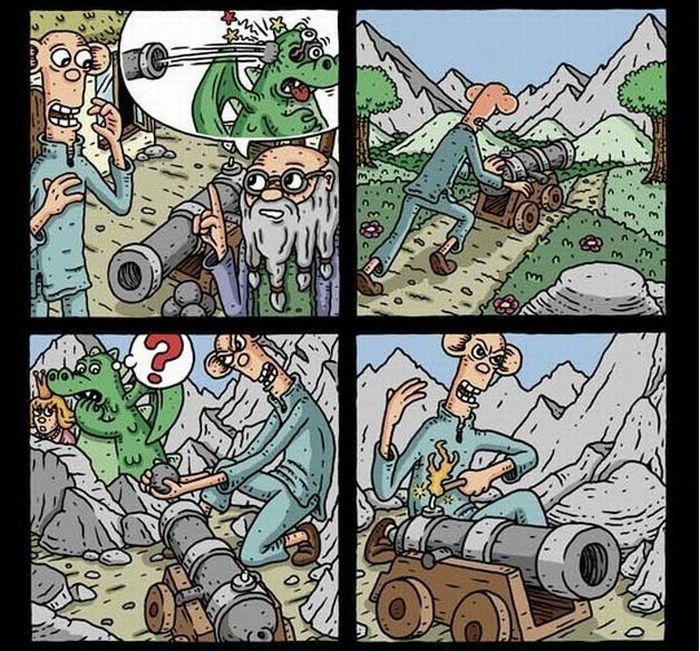 Обезбашенный комикс (14 картинок)