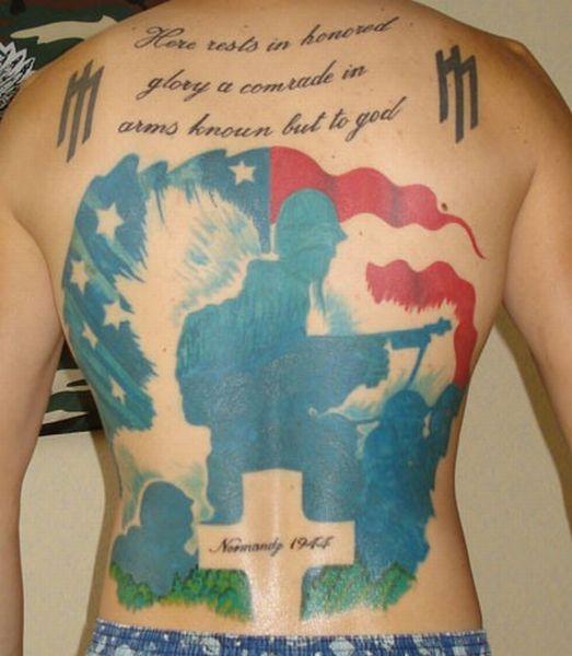Военные тату американских солдат (48 фото)