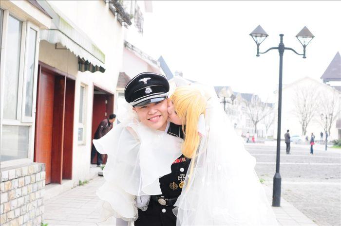 Китай. Фашистские свадьбы (15 фото)