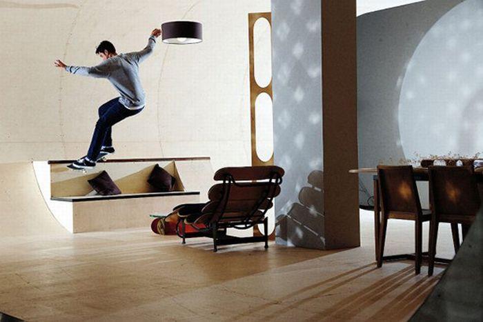 Квартира скейтера (7 фото)