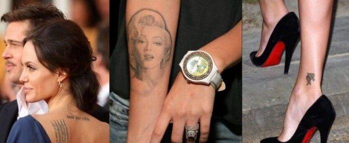 Татуировки голливудских звезд (16 фото)