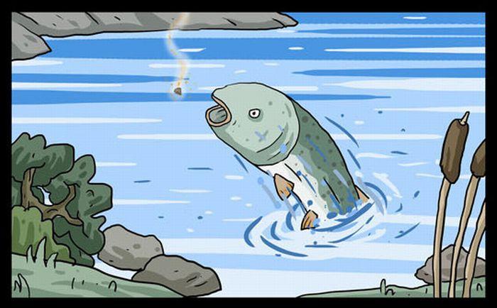 """Комикс """"На помощь!"""" (23 картинки)"""