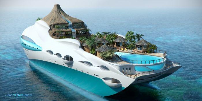 Тропический остров на личной яхте (8 фото)