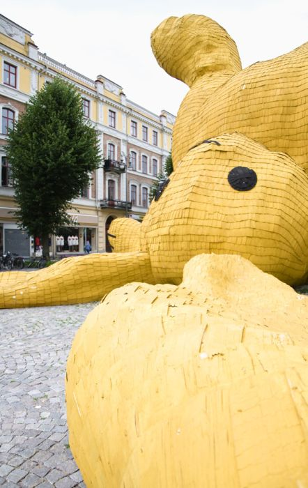 Огромный желтый кролик (8 фото)